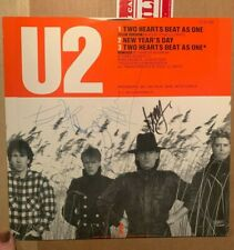 Autographed By Full Band U2 Two Hearts Beat As One (Club Version) 1983 12 inch