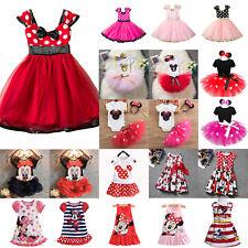 Toddler Kids Baby Girls Mickey Minnie Princess Tutu Dress Party Wedding Sundress