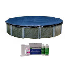 Swimline 21 Foot Round Above Ground Pool Cover with Winterizing Chemical Kit
