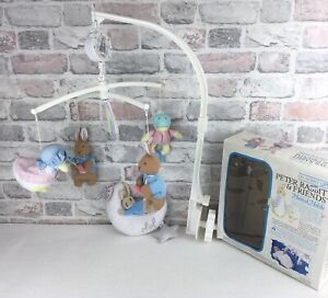 Vintage Eden Peter Rabbit & Friends Cot Musical Mobile In Box Plus 1 Other