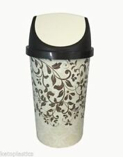 50L SWING BIN, KITCHEN BIN, RETRO, VINTAGE STYLE - FLORAL DESIGN SHABBY CHIC