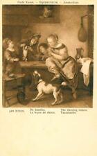 New ListingOld Jan Steen Springer Spaniel Dog Postcard Dancing Lesson c1960