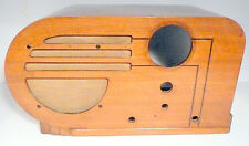 vintage  PHILCO  37-610 RADIO part: Art Deco WOOD SHELL  in very nice shape