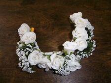 Kopfschmuck Blütenkranz Hochzeit ~ Handarbeit ~ weiße Schaumröschen #69