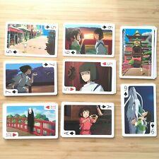 Rare Spirited Away Studio Ghibli playing cards set New kawaii japanese anime