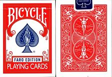 Faro Edition Red Bicycle Playing Cards Poker Size Deck USPCC Custom Limited New