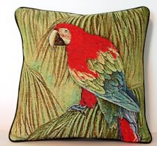 Tropical Bird - Red And Green Winged Macaw Tapestry Pillow New
