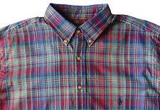 Men's RALPH LAUREN Maroon Blue Green Plaid Shirt 3XLT 3XT 3LT NWT NEW Classic!