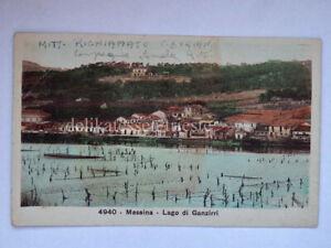 MESSINA Lago di Ganzirri vecchia cartolina