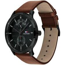 Tommy Hilfiger Original 1791604 Men's Brown Leather Watch 44mm