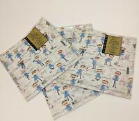 Lot of 4 Packs Vtg Gibson Gift Wrap Sheets 2 Per Pack 20x28 in All Around Dad