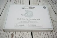 Pottery Barn Kids Doll Clip-on Booster chair Gray Stars Toy Doll Chair Play