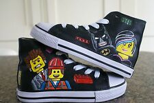 LEGO INSPIRED CUSTOM HAND PAINTED HIGH TOPS MADE TO ORDER