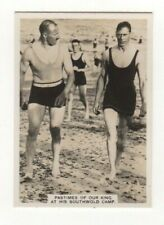Swimming Photocard - King George VI at his Southwold Camp