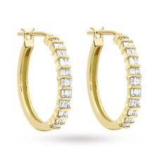 Pave 0,60 Cts Natürliche Diamanten Creolen Ohrringe In Feines 14 Karat Gelbgold