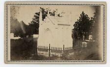 Civil War CDV Baton Rouge Cemetery Mausoleum By McPherson & Oliver c1863