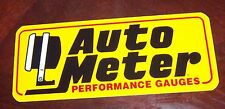 Decal / Sticker  Auto Meter Performace Gauges   Automotive  9 in. x 4 in.