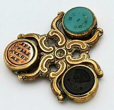 More details for victorian multi intaglio motto letter seal spinner 19th century