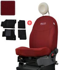 [OFFERTA] Fodere su Misura Fiat 500+Tappetini Moquette Set Completo Rosso 207