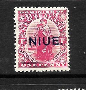 NIUE  1917-21  1d   DOMINION   MLH  SG 24