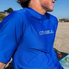 New listing O'Neill Men's Basic Skins Upf 50+ Short Sleeve Sun Shirt Pacific Blue Large New