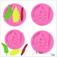 3D Feather Leaves Silicone Cake Decor Mold Fondant Sugarcraft Chocolate Mould QK