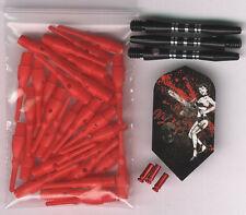 """Chainsaw Mistress"" Soft Tip Dart Upgrade Kit: Red Tips, Black Shafts & More"