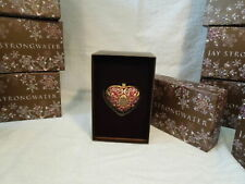 Jay Strongwater - HEART - Swarovski Crystal Jewels - Glass Ornament - New In Box