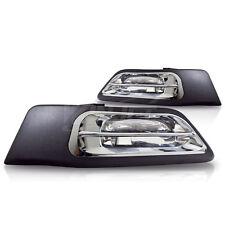 For 2002-2004 Honda CRV CR-V Clear Lens Chrome Housing ABS Fog Lights Lamps