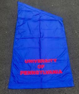 Vintage Univ.Of Pennsylvania Quakers Banner Street Post Flag 4'x8' Penn 'Big 5'