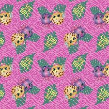 New listing Shopkins Vibes Pink 100% Cotton Fabric by The Yard