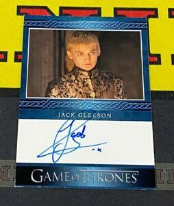 Game of Thrones Season Eight Jack Gleeson as King Joffrey Blue Autograph