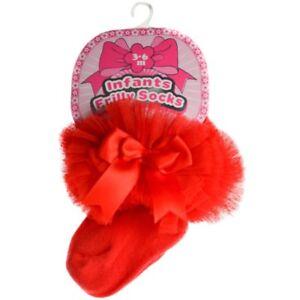 Baby Girls Tutu Socks Spanish Style Frilly Organza Satin Bow NB - 18m Soft Touch