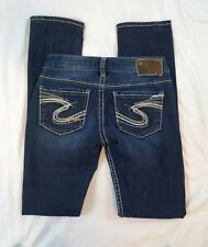 Silver Jeans Berkley Straight Leg Womens Size 25 Stretch Dark Wash Jeans