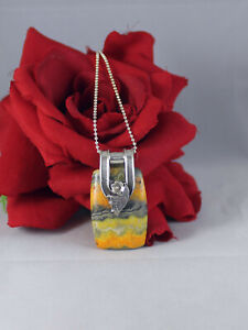 """Sterling Silver Gemstone Flower  16.74g 24""""  Necklace CAT RESCUE"""