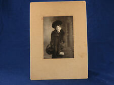 Shaljan Antique Portrait Lady BIG HAT Furs Small Purse Handbag Muff Worcester MA