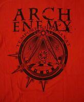 ARCH ENEMY cd lgo WAR ETERNAL Official RED SHIRT LAST XL OOP tempore nihil sanat