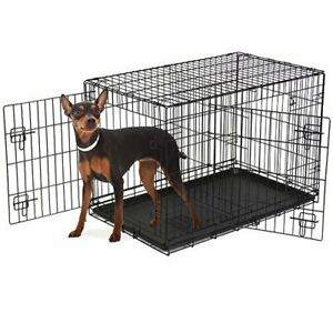 """Vibrant Life, Double-Door Folding Dog Crate with Divider, XX-Large, 48"""""""