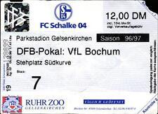 Ticket DFB-Pokal 96/97 FC Schalke 04 - VfL Bochum, Stehplatz Südkurve