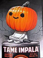 Tame Impala Mini Concert Poster Reprint 2013 Dallas Tx 14x10 Unsigned