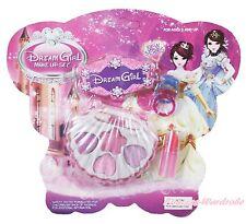 Princess Light Pink Purple Shell Kids Girl Makeup Toy Cosmetics Eyeshadow Box