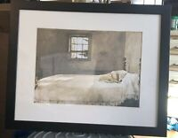 Master Bedroom Framed Print Wyeth Sleeping Dog Framed Matted