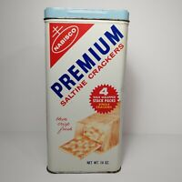Vintage Nabisco Premium Saltine Crackers Tin Retro Kitchen Décor Old Advertising