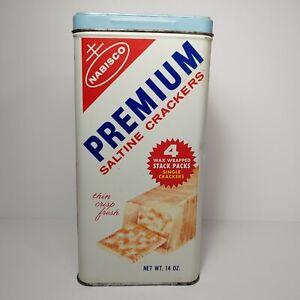 Vintage Nabisco Premium Saltine Crackers Tin Retro Kitchen Décor Old Advertising