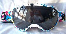 $120 Rare Scott Mens Off Grid White Snow Winter Ski goggles Smith red teal blue