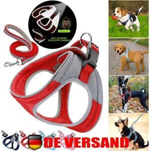 Hundegeschirr Powergeschirr Reflektierend Hunde Outdoor Geschirr mit Leine S-L