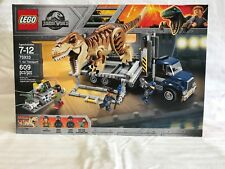 LEGO JURASSIC WORLD FALLEN KINGDOM T.REX TRANSPORT SET 75933 **HARD TO FIND**
