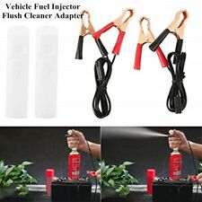 Vehicle Fuel Injector Flush Cleaner Adapter Kit Car Cleaning Tool with 2 Nozzles