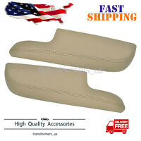 For 2006-2014 Honda Ridgeline Leather Front Door Panel Armrest Cover Beige Tan