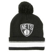 Brooklyn Nets Mitchell & Ness Pom Beanie  Mütze Winter Skater Hip Hop NBA USA